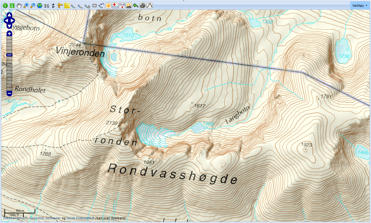 The Map Is Not The Territory - Norway topographic map