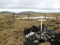 Air crash memorial on Blairdenon Hill
