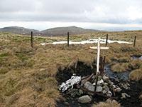 Air crash memorial on Blairdenon Hill