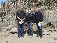 Martin, Kate & I on the summit of Snowdon