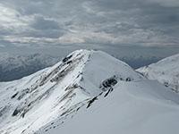 The summit of Aonach Meadhoin from Sgurr an Fhuarail