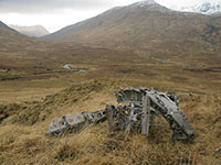 Wellington wreckage in upper Glen Affric