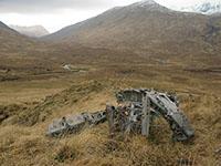Wellington wreckage in upper Glen Affric