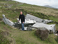 Wreckage of a Catalina on the island of Vatersay