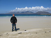 At Losgaintir beach, Harris