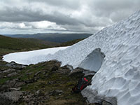 The Ciste Mhearad snowpatch