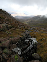 The two engines from the Airspeed Oxford in upper Coire Beanaidh on Braeriach