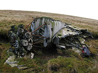 A section of the Vikings wing and engine near the summit of Irish Law