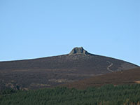 The granite tor on the summit of Clachnaben