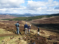 JMT volunteer work party carrying out path repair work on Schiehallion