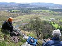 On the Creag Dhubh crags above the river Spey