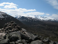 Braeriach and the Lairig Ghru from Creag aChalamain