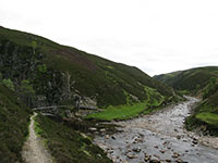The Bedford Bridge at the confluence of the rivers Tarf and Tilt in Glen Tilt 