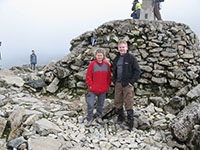On the summit of Ben Nevis 